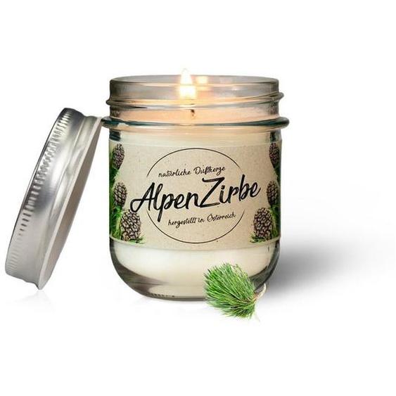 Zirbelino Duftkerze, handgefertigt aus zertifiziertem Bio-Zirbenöl - Made in Austria