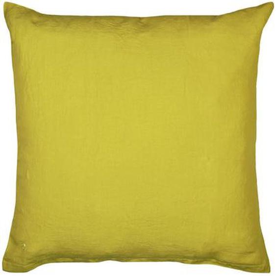 Zoeppritz Kissenhülle Currygelb 80/80 cm , Textil , Uni , 80x80 cm
