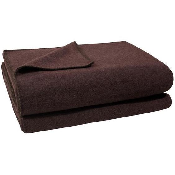 Zoeppritz Wohndecke 160/200 cm braun , Textil , Uni , 160 cm