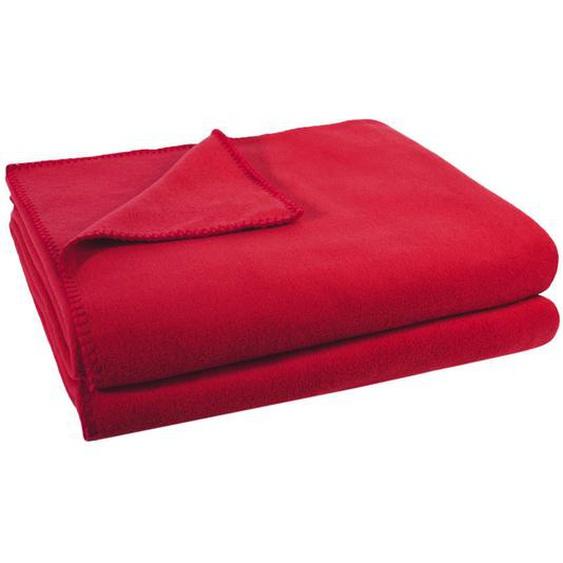 Zoeppritz Wohndecke 160/200 cm Rot , Textil , Uni , 160x200 cm