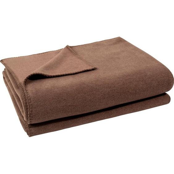 Zoeppritz Wohndecke  »Soft-Fleece«, 110x150 cm, braun