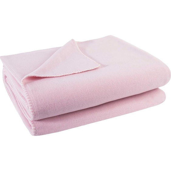 Zoeppritz Wohndecke  »Soft-Fleece«, 220x240 cm, rosa