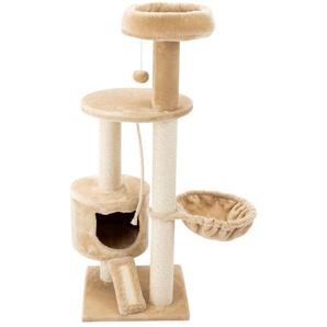 ZOOFARI® Katzenkratzbaum, mit Hängematte, aus Sisal