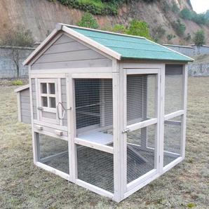 Zoopplier Hühnerstall Hühnerhaus Chickenhouse Nr. 04Pickerparadies mit Eierbox und Freilauf