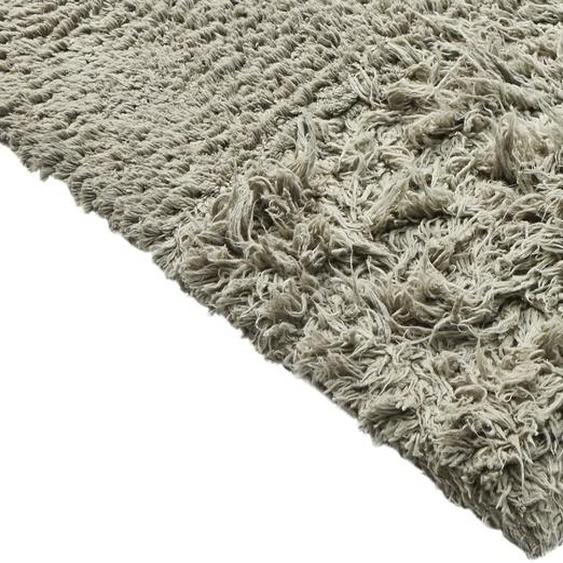 Zottelteppich handgearbeitet 5, ca. 190/290 cm grau Shaggy-Teppiche Hochflor-Teppiche Teppiche