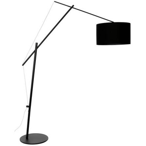 Zuiver Bogenleuchte , Schwarz , Textil , zylindrisch , 168x210 cm , Innenbeleuchtung, Stehleuchten