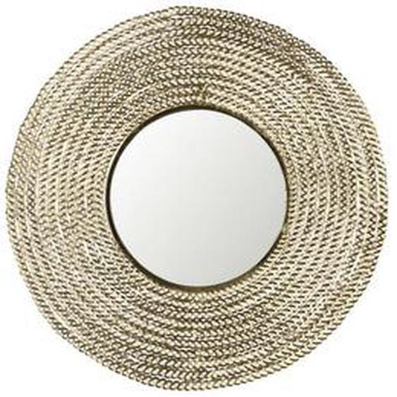 Zuiver Dekospiegel Gold , Metall, Glas , 6 cm