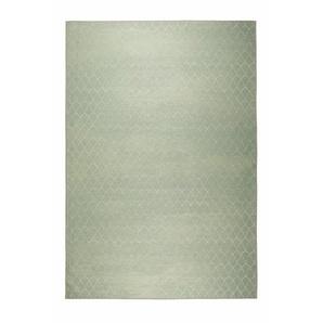 Zuiver Outdoorteppich , Grün , Textil , Wellen , rechteckig , 170 cm , rutschfeste Unterfläche , Teppiche & Böden, Teppiche, Flachgewebe-Teppiche