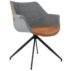 Zuiver Schalenstuhl »DOULTON Stuhl von ZUIVER Esszimmerstuhl in Vintage Brown«