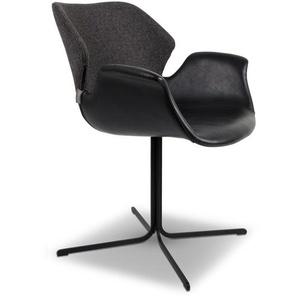 Zuiver Stuhl, Dunkelgrau, Lederoptik