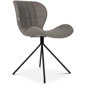 Zuiver Stuhl, Grau, Lederoptik