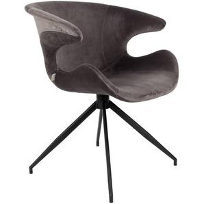 Zuiver Stuhl, Grau, Polyester