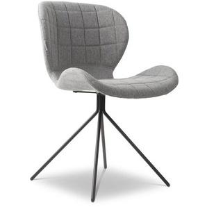 Zuiver Stuhl, Grau, Stoff