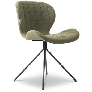 Zuiver Stuhl, Grün, Stoff