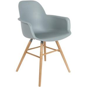 Zuiver Stuhl, Hellgrau, Kunststoff