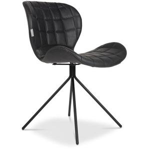 Zuiver Stuhl, Schwarz, Lederoptik