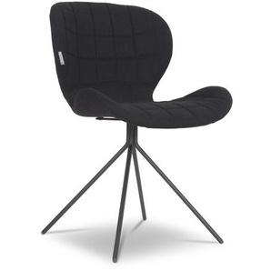 Zuiver Stuhl, Schwarz, Stoff