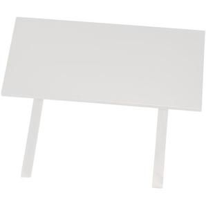 Zusatzplatte Obvious (100x50, weiß-lackiert)