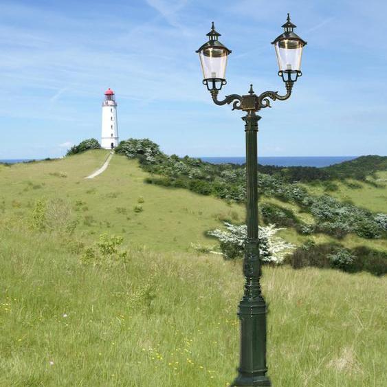 Zweiköpfig Hofleuchte Aussenleuchte Terrassenlampe Garten Aussenlampe - H.291 cm