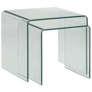 Zweisatztisch aus Sicherheitsglas Wangen-Gestell (2-teilig)