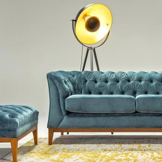 Zweisitzer-Sofa Chesterfield Modern Wood